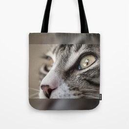 Macro Cat Tote Bag
