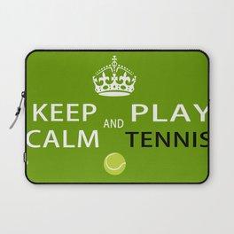 Keep Calm and Play Tennis Laptop Sleeve