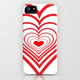 RED VALENTINES HEARTS IN HEARTS ART iPhone Case