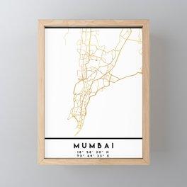 MUMBAI INDIA CITY STREET MAP ART Framed Mini Art Print