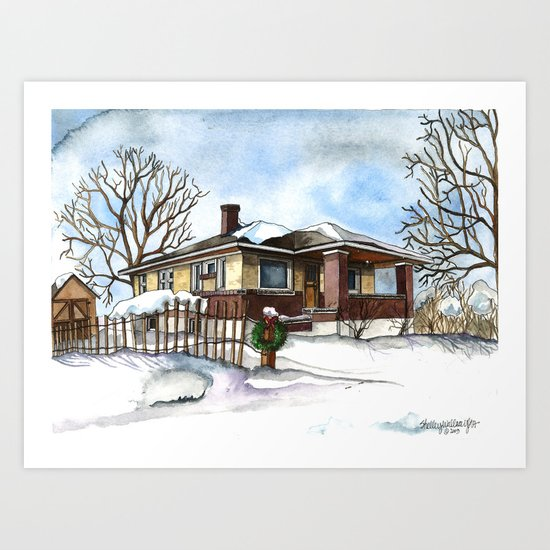 A Bungalow in the Country Art Print
