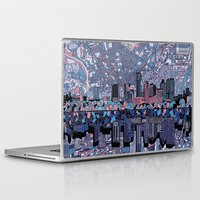 austin Laptop & iPad Skins featuring austin texas city skyline by Bekim ART