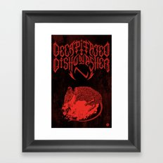 Decapitated by dishwasher III (red) Framed Art Print