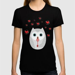 OWL, LOVE & BUBBLES (valentine animals heart) T-shirt