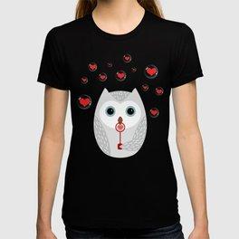 OWL, LOVE & BUBBLES (valentine animals heart) T-shirt