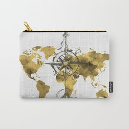 Gold World Map 2 Carry-All Pouch