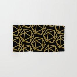 D20 Pattern - Gold Black Bold Hand & Bath Towel