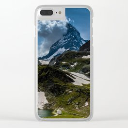 The Matterhorn Zermatt Switzerland Clear iPhone Case