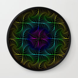 Psychedelic rainbow Wall Clock