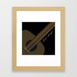 heart strings Framed Art Print