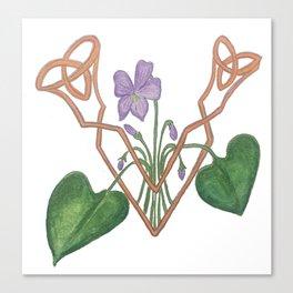 V is for Violet Canvas Print