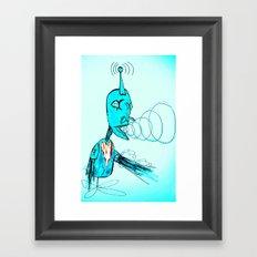 The Light Blue Robot Framed Art Print