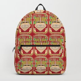 American Football Red and Gold - Enzone Puntfumbler - Bob version Backpack