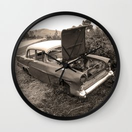 1957 Vauxhall Victor - dead cars series 102 Wall Clock