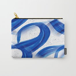 Abstract Acrylic Painting Blues Series 3 Carry-All Pouch