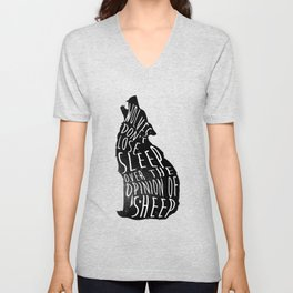 Wolves dont lose sleep over the opinion of sheep - version 1 - no background Unisex V-Neck