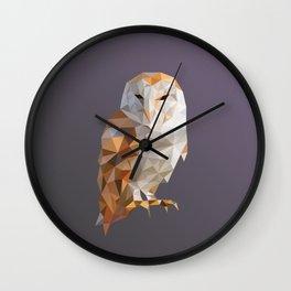 Poly Owl Wall Clock