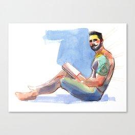 ELI, Semi-Nude Male by Frank-Joseph Canvas Print