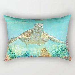 Leonardo the Sea Turtle Rectangular Pillow