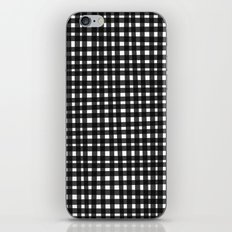 Black Gingham iPhone & iPod Skin
