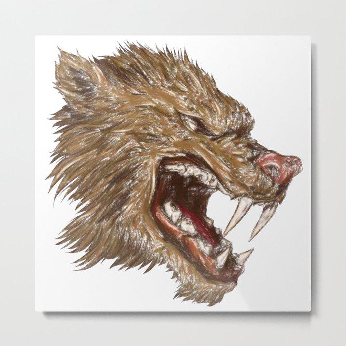 Head with sharp teeth Metal Print