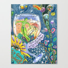 I Drank Too Much Universe Today Canvas Print