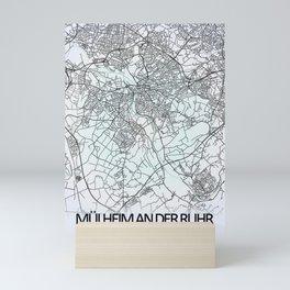 Mülheim an der Ruhr, Germany, White, City, Map Mini Art Print