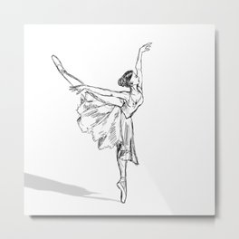 Sketch Dancer Metal Print