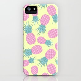 Pink pastel pineapple iPhone Case