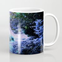 fantasy Mugs featuring fantasy garden Periwinkle by 2sweet4words Designs