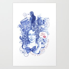 Every Curl Is A Spoiler Art Print
