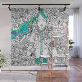 Music of flowers Wall Mural
