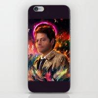 castiel iPhone & iPod Skins featuring Castiel by ururuty