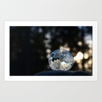 Frozen Bubble Art Print