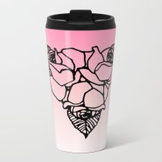 Art Nouveau Rose Trio Metal Travel Mug
