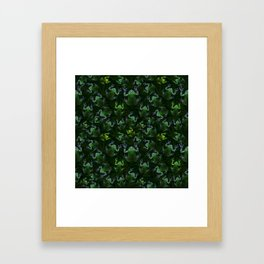 Frogs On Weed Framed Art Print