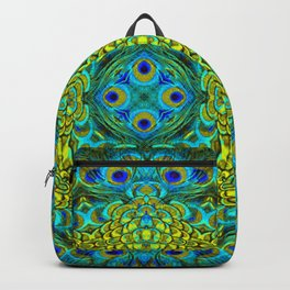 Peacock Feathers - Blue Backpack