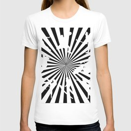 Sports figures in abstract background T-shirt