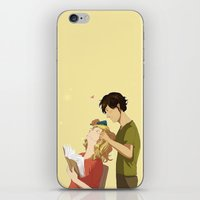 enjolras iPhone & iPod Skins featuring Enjolras et Grantaire by Sarlyne