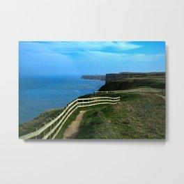 Bempton Cliffs Footpath  Metal Print
