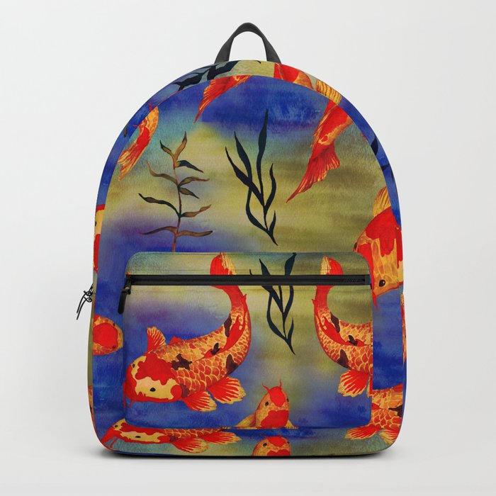 The deep water- koi fishes - watercolor Backpack