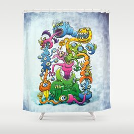 Monstrously Messy Shower Curtain