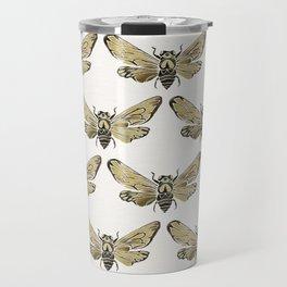 Summer Cicada – Black & Gold Palette Travel Mug