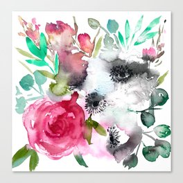 anemone and rose Canvas Print