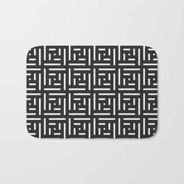 Human History (Black and White) Bath Mat