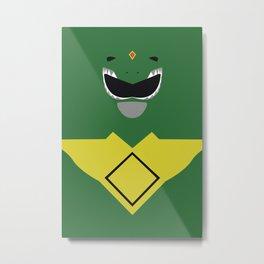 Power Rangers - Green Ranger Minimalist Metal Print