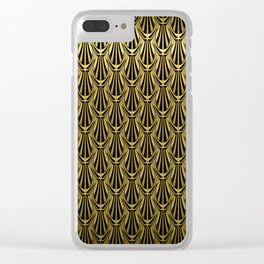 Overlapping Shell Pattern in Gold Clear iPhone Case