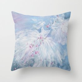 Tutus' in Aqua Throw Pillow