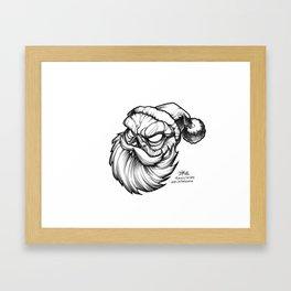 Santa Skully Framed Art Print