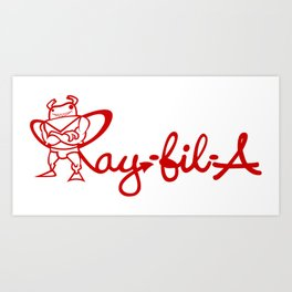 Ray Fillet's Ray-fil-A Art Print